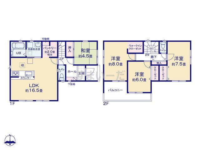 リナージュ 浜松市南区芳川町20-1期の見取り図