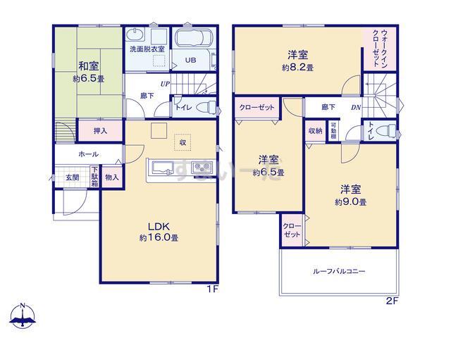 リナージュ 浜松市西区坪井町20-1期の見取り図