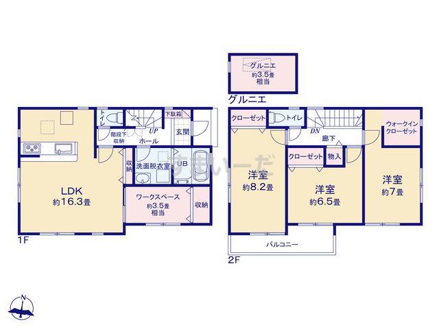 リナージュ 浜松市中区萩丘20-1期の見取り図