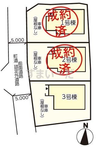 リナージュ 板野町那東20-1期の見取り図