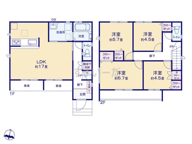グラファーレ 名古屋市十一屋3期1棟の見取り図