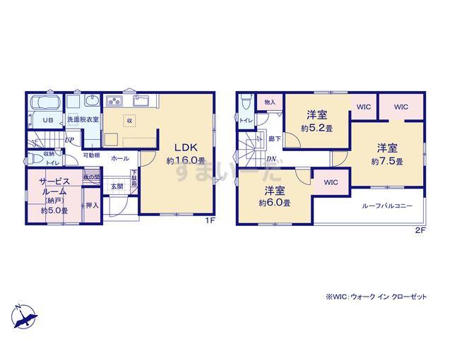 リナージュ 名古屋市南区元鳴尾町20-1期の見取り図