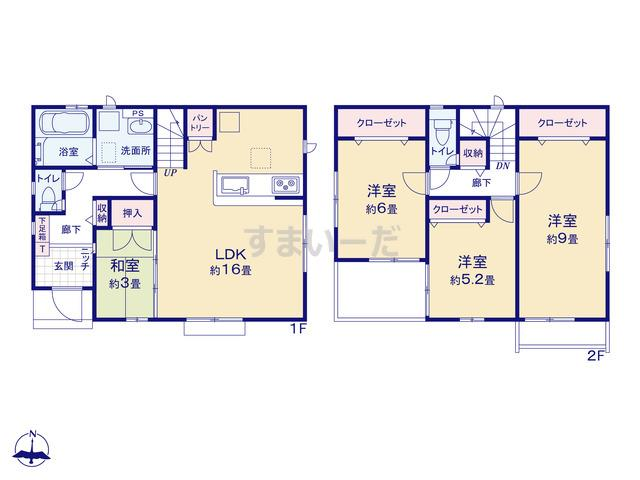 グラファーレ 横浜市犬山町2期1棟の見取り図