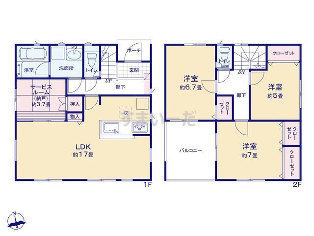 クレイドルガーデン 千葉市若葉区桜木 第5の見取り図