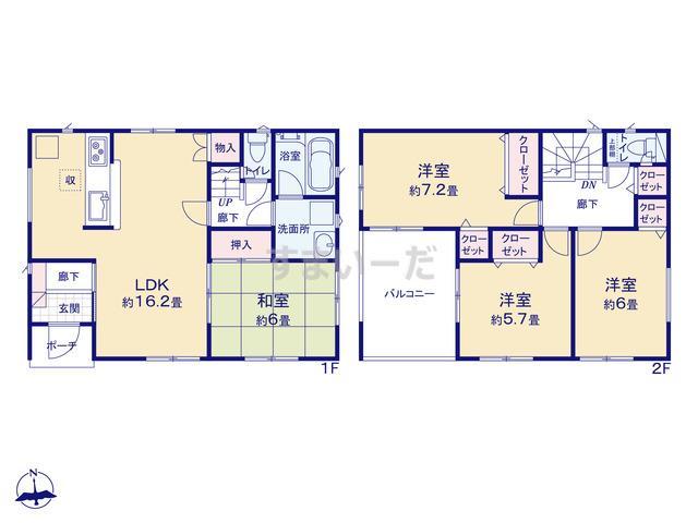 クレイドルガーデン 名古屋市港区大西 第1の見取り図