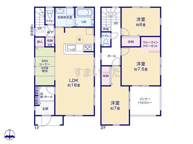 リーブルガーデン 東住吉区照が丘矢田3期の見取り図