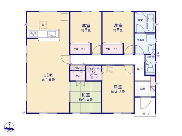クレイドルガーデン 熊本市南区富合町大町 第1の見取り図