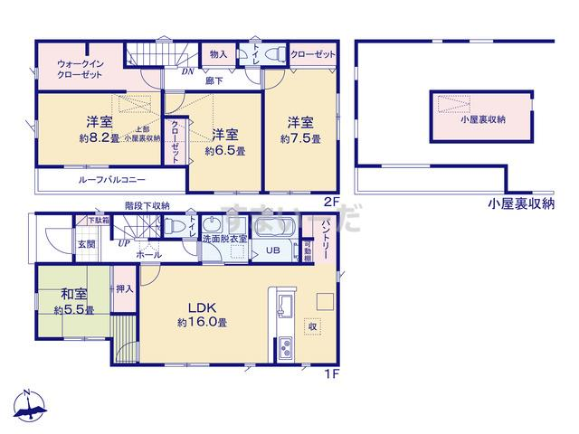 リナージュ 浜松市東区篠ケ瀬町20-1期の見取り図