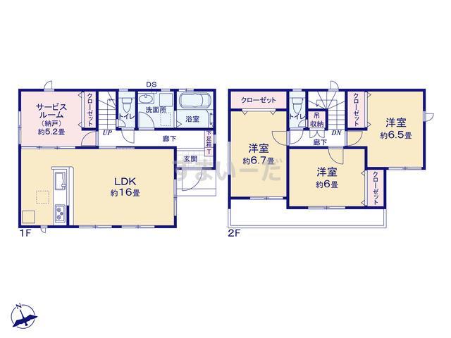 グラファーレ 名古屋市戸部町2棟の見取り図