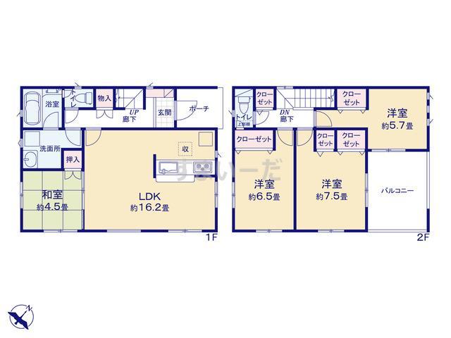 クレイドルガーデン 広島市安佐南区長束西 第2の見取り図