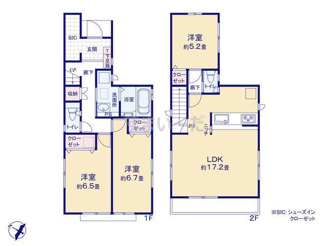 グラファーレ 横浜市下瀬谷6期1棟の見取り図