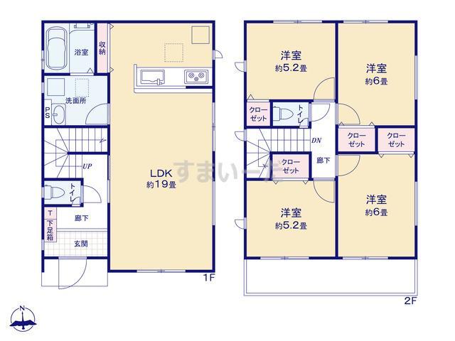 グラファーレ 名古屋市高木町3期1棟の見取り図