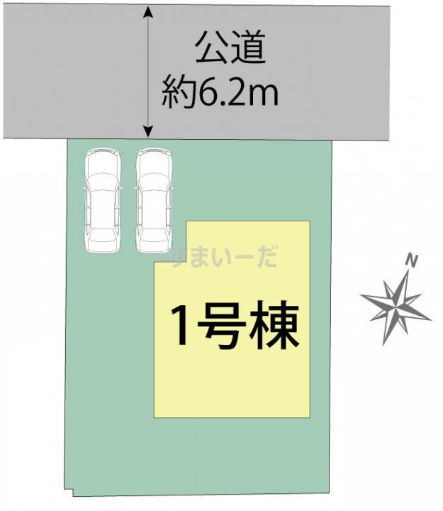 ブルーミングガーデン 広島市佐伯区観音台4丁目1棟の見取り図