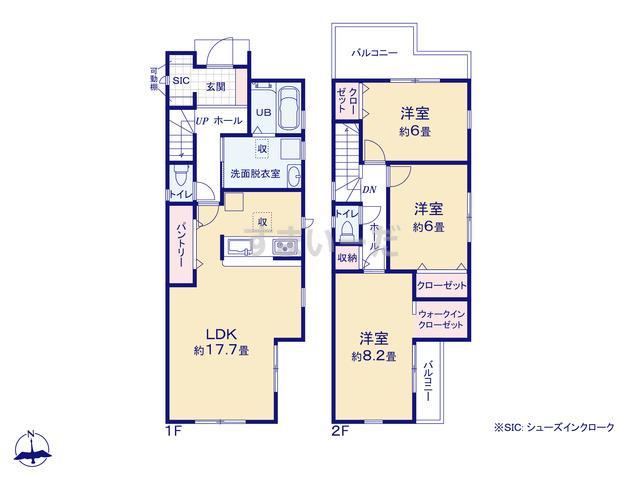 リーブルガーデン 阿倍野区阪南町2期の見取り図