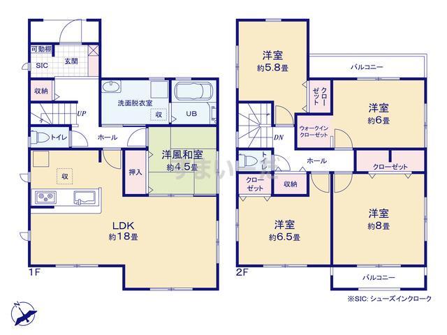 リーブルガーデン 堺西区浜寺石津町東5期の見取り図