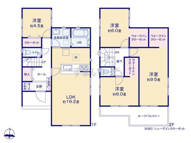 リナージュ 菊川市堂山新田20-1期の見取り図