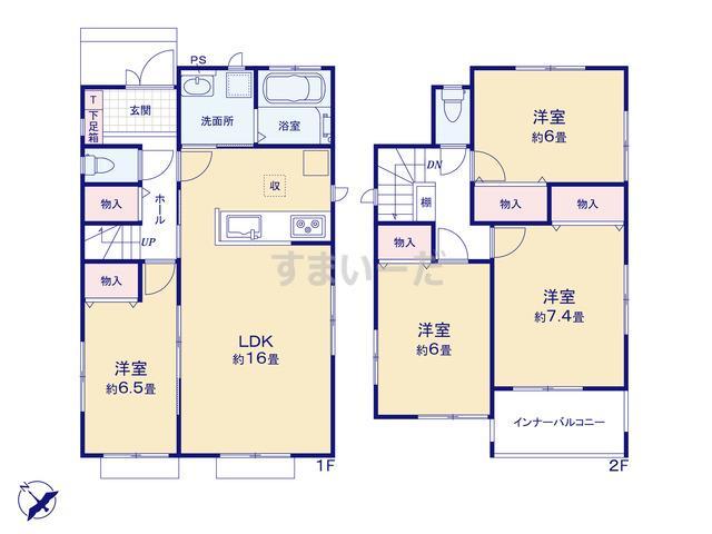 ハートフルタウン 富山市安養坊1期の見取り図