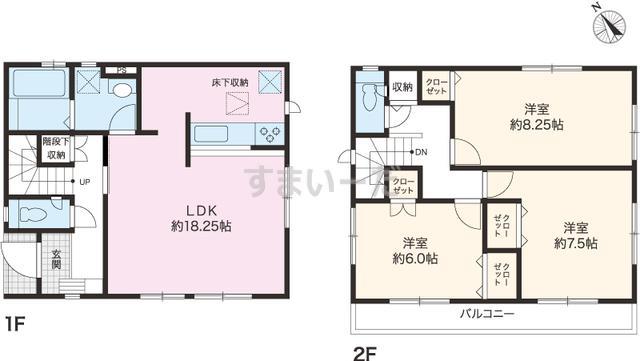グラファーレ 香南市野市町西野4棟の見取り図
