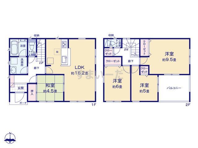 クレイドルガーデン 浜松市浜北区八幡 第2の見取り図
