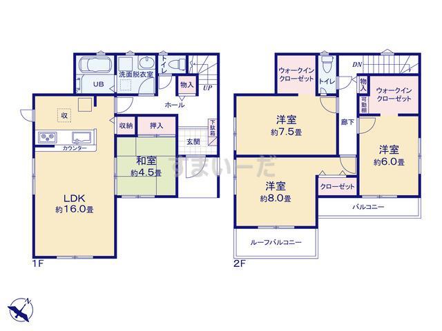 リナージュ 広島市東区馬木20-1期の見取り図