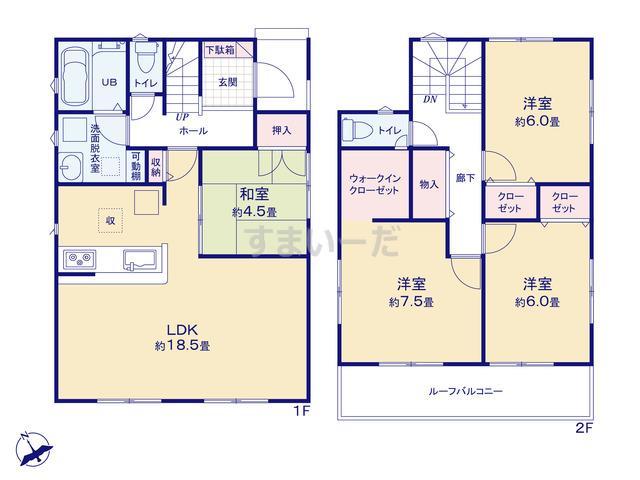 リナージュ 浜松市西区篠原町20-1期の見取り図