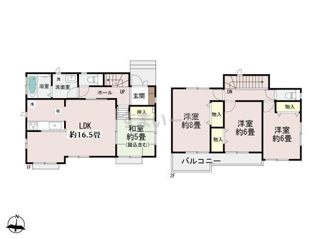 ハートフルタウン 神戸須磨東白川台の見取り図