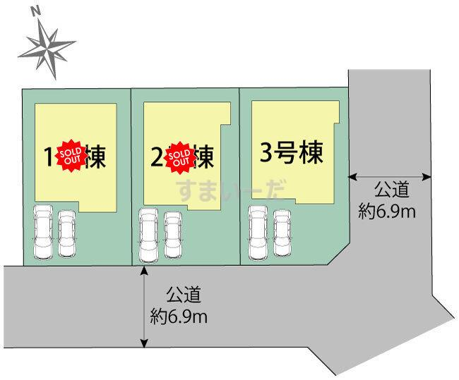 ブルーミングガーデン 仙台市青葉区桜ヶ丘1丁目2期3棟の見取り図