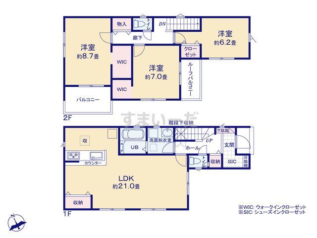 リナージュ 神戸市垂水区東垂水20-1期の見取り図