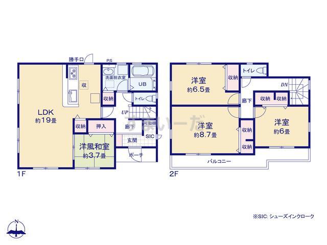 リーブルガーデン 京都北区紫竹下竹殿町の見取り図