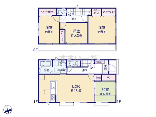 グラファーレ 横浜市南台5期2棟の見取り図