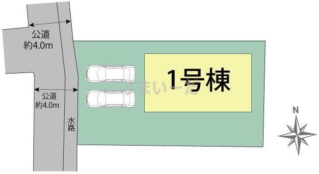 ブルーミングガーデン 熊本市中央区神町本町1棟の見取り図