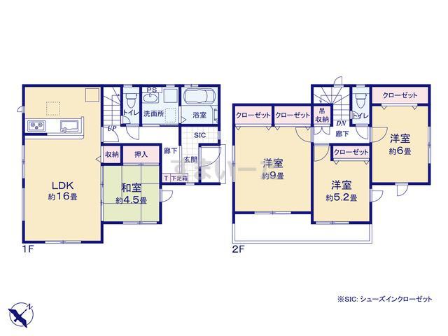 グラファーレ 福岡市屋形原3期1棟の見取り図