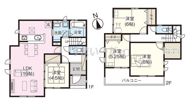 グラファーレ 那須塩原市東栄2棟の見取り図