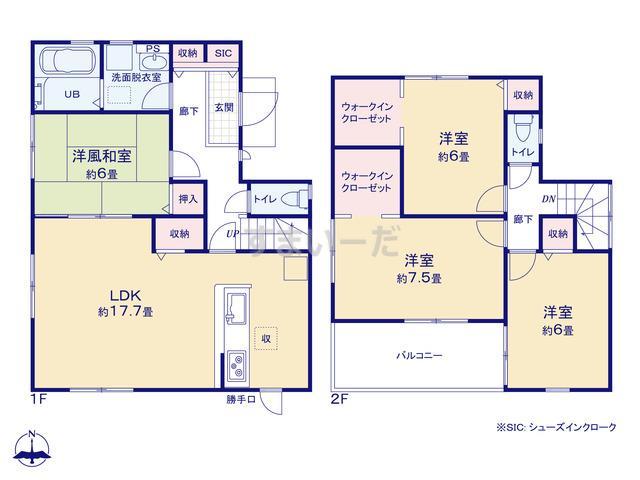 リーブルガーデン 大和高田市今里町第2の見取り図