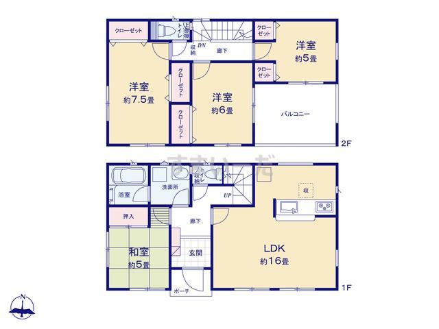 クレイドルガーデン 熊本市南区城南町丹生宮 第3の見取り図