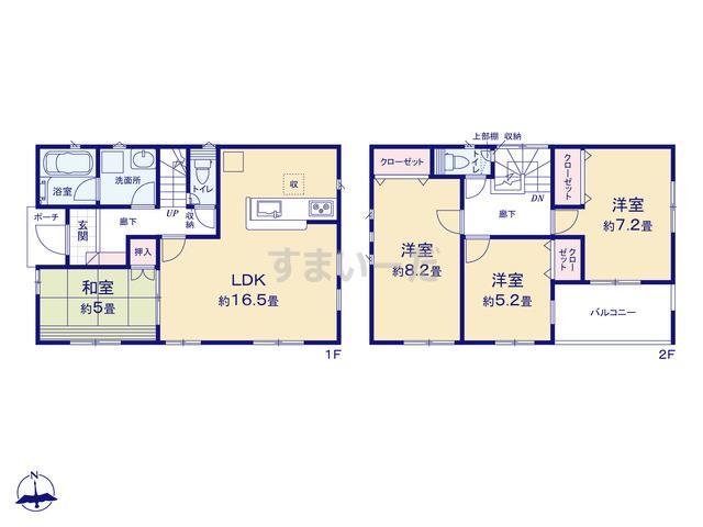 クレイドルガーデン 熊本市南区富合町清藤 第1の見取り図