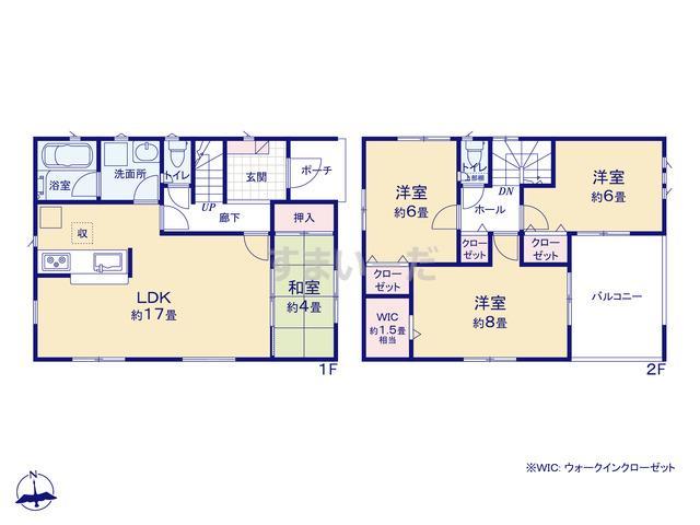 クレイドルガーデン 熊本市北区植木町広住 第1-II期の見取り図