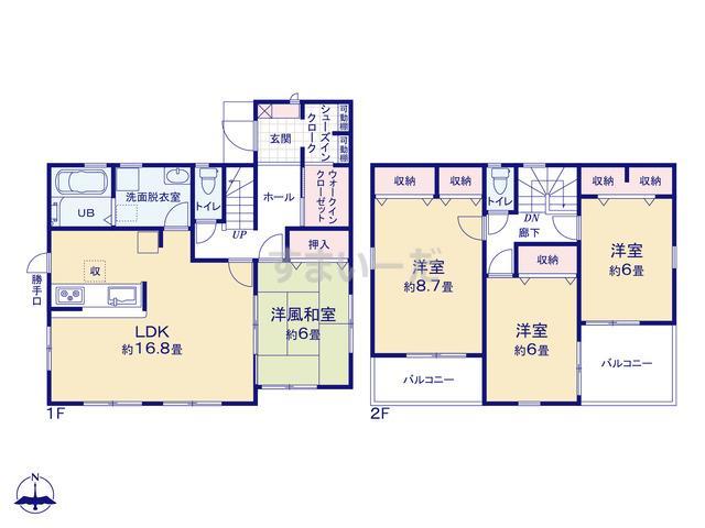 リーブルガーデン 大和高田中三倉堂8期の見取り図