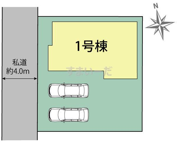 ブルーミングガーデン 仙台市若林区今泉1丁目1棟の見取り図