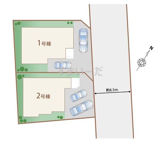 ハートフルタウン 仙台堤町2期の見取り図