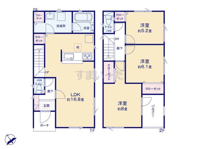 クレイドルガーデン 札幌市北区太平二条 第1の見取り図