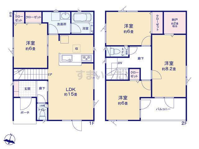 クレイドルガーデン 札幌市厚別区もみじ台北 第1の見取り図