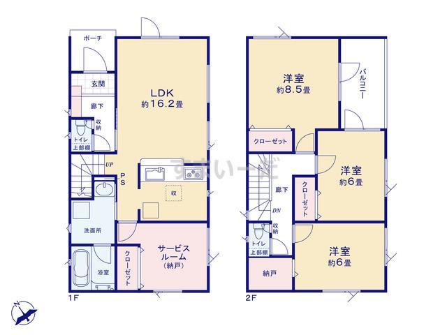 クレイドルガーデン 札幌市北区太平四条 第1の見取り図