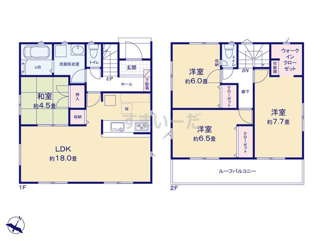 リナージュ 静岡市駿河区西島20-3期の見取り図