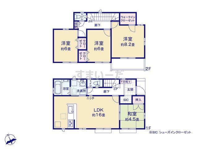 グラファーレ 千葉市天台2期1棟の見取り図