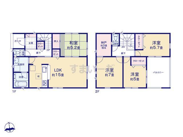 クレイドルガーデン 名古屋市中川区前田西町 第2の見取り図