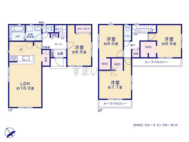 リナージュ 島田市旭20-1期の見取り図