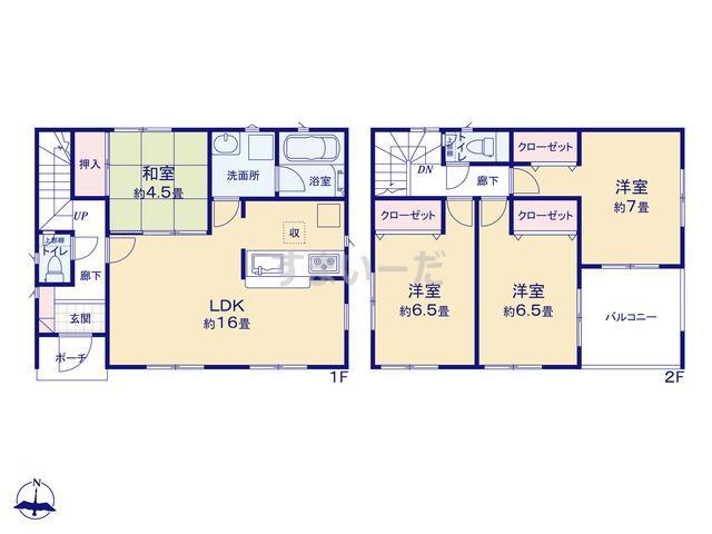 クレイドルガーデン 和歌山市布施屋 第3の見取り図