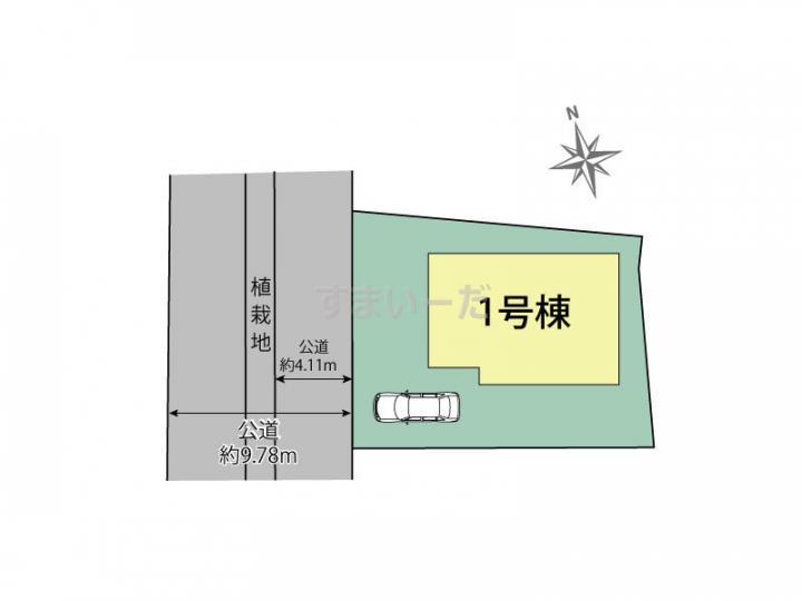 ブルーミングガーデン 千葉市花見川区柏井1丁目1棟の見取り図