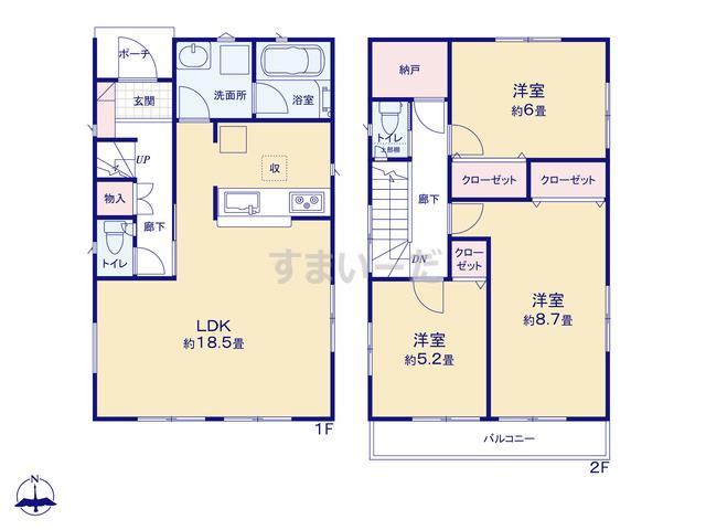 クレイドルガーデン 横浜市金沢区釜利谷南 第4の見取り図